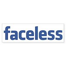 Faceless Car Sticker