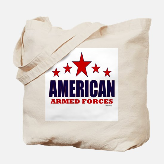 American Armed Forces Tote Bag