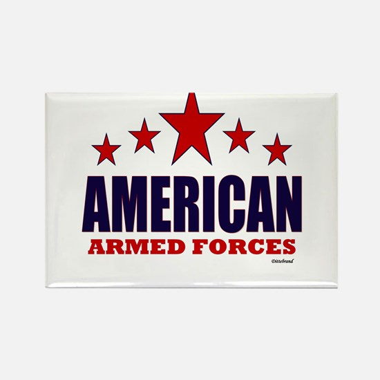 American Armed Forces Rectangle Magnet