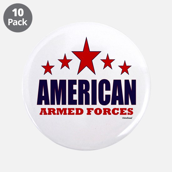 "American Armed Forces 3.5"" Button (10 pack)"