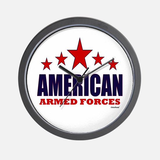 American Armed Forces Wall Clock