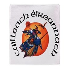Irish Witch (Gaelic) Throw Blanket