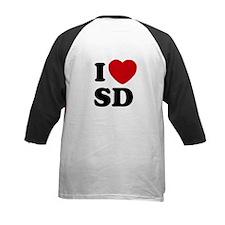 Two Sided I Heart SD Tee Shirt
