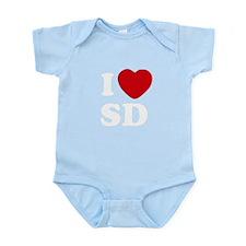 I Heart SD Infant Bodysuit