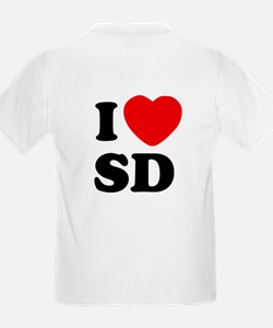 Two Sided I Heart SD T-Shirt