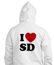 Two Sided I Heart SD Hoodie