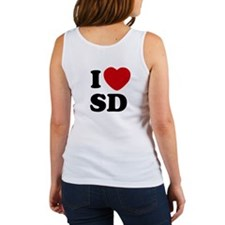 Two Sided I Heart SD Women's Tank Top