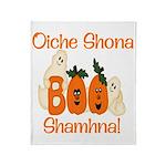 Gaelic Halloween Boo! Throw Blanket