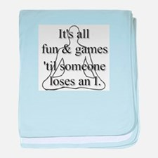 It's all fun & games... baby blanket