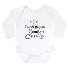 It's all fun & games... Long Sleeve Infant Bodysui