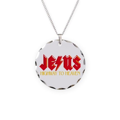 Jesus Highway to Heaven Necklace Circle Charm