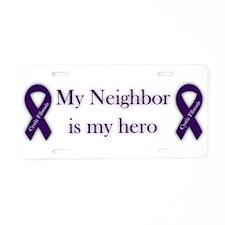 Neighbor CF Hero Aluminum License Plate