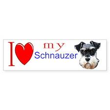 Funny Schnauzer Bumper Sticker