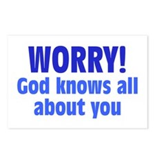 Worry! God Knows About You Postcards (Package of 8