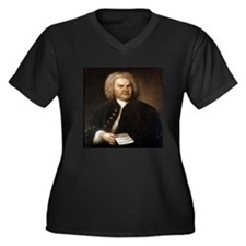 bach gifts t-shirts Women's Plus Size V-Neck Dark