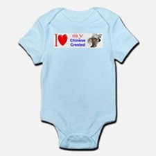 Unique Chinese crested Infant Bodysuit
