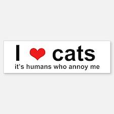 ILoveCats Bumper Stickers