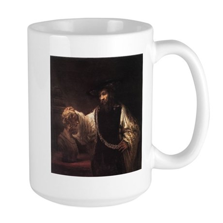 Aristotle with a Bust of Home Large Mug