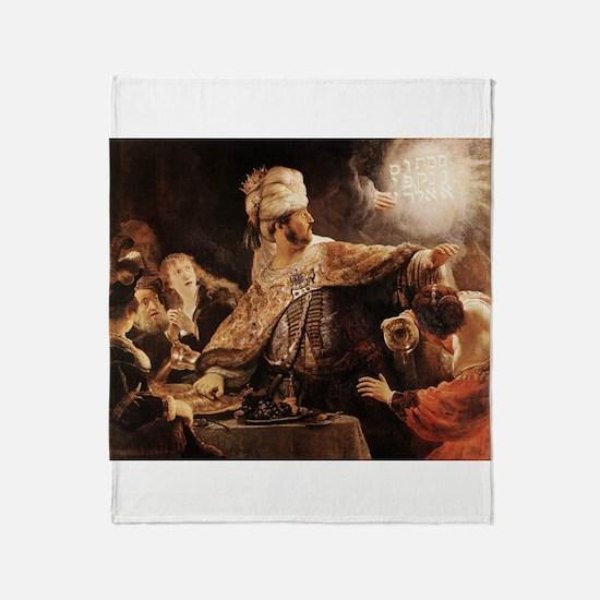 Belshazzar's Feast Throw Blanket