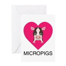 Love Micropigs Greeting Card