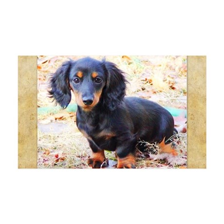 Puppy Love Doxie 38.5 x 24.5 Wall Peel