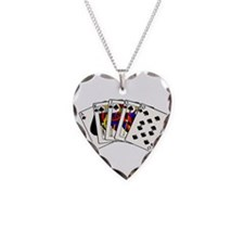 Spades Royal Flush Necklace