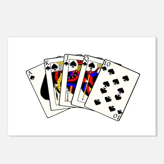 Spades Royal Flush Postcards (Package of 8)