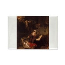Holy Family with Angels Rectangle Magnet