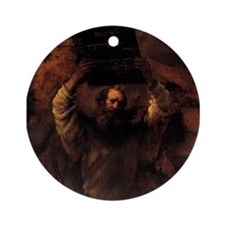 Moses Smashing the Tablets of Ornament (Round)