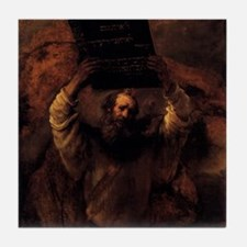 Moses Smashing the Tablets of Tile Coaster