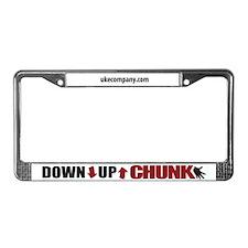 Down Up Chunk Ukulele License Plate Frame