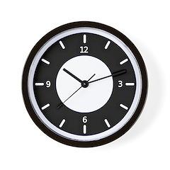 <b>BASIC COLOR CLOCKS:</b>Black & White Wall Clock