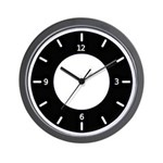BASIC COLOR CLOCKS: Black & White Wall Clock