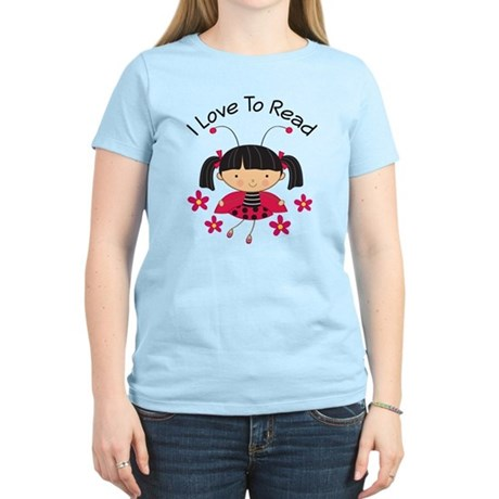 I Love To Read Ladybug Women's Light T-Shirt