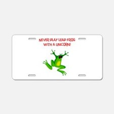 Unicorn Leap Frog! Aluminum License Plate