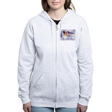 Purple Haze Figure Skater Women's Zip Hoodie