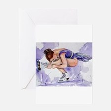 Purple Haze Figure Skater Greeting Card