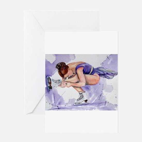 Purple Haze Figure Skater Greeting Card