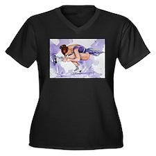 Purple Haze Figure Skater Women's Plus Size V-Neck