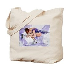 Purple Haze Figure Skater Tote Bag