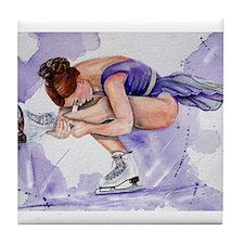 Purple Haze Figure Skater Tile Coaster