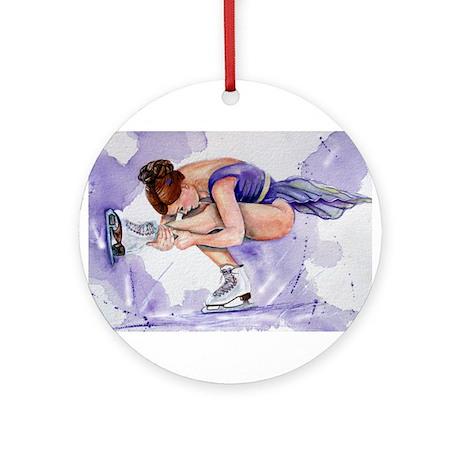 Purple Haze Figure Skater Ornament (Round)
