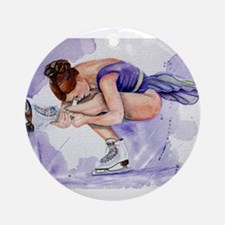 Purple Haze Figure Skater Ornament (Round)