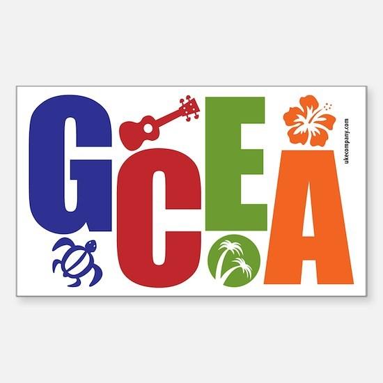 GCEA Ukulele Sticker (Rectangle)