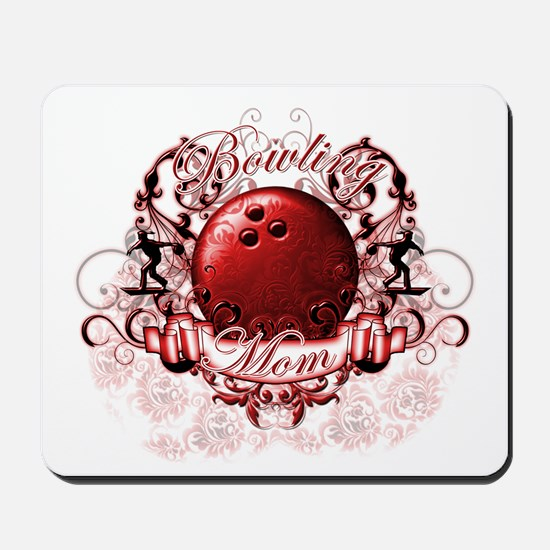 Bowling Mom (Red) Mousepad