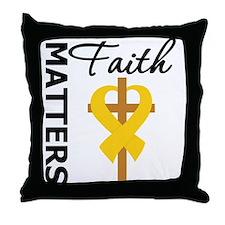 COPD Faith Matters Throw Pillow