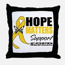 COPD Hope Matters Throw Pillow