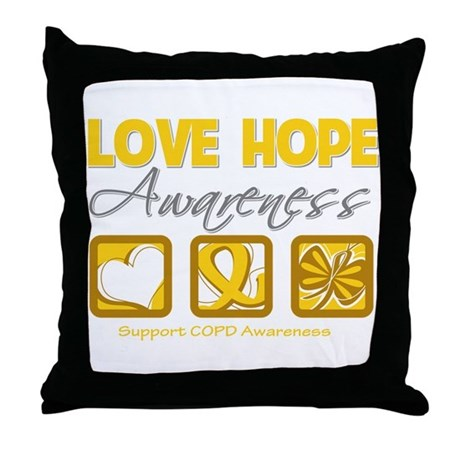 COPD Love Hope Throw Pillow
