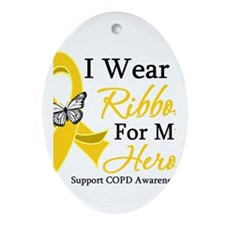 COPD Ribbon Hero Ornament (Oval)