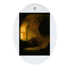 Philosopher in Meditation Ornament (Oval)
